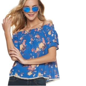 Rewind | Floral | Off the shoulder | Top